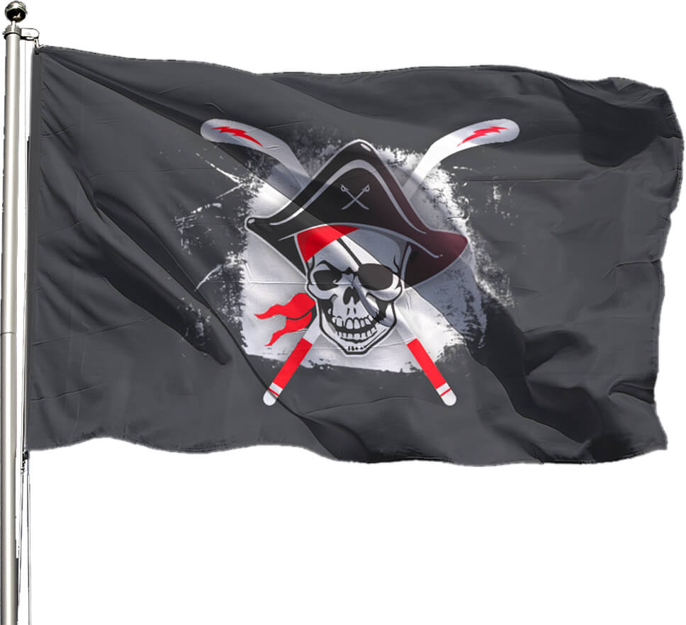 Drapeau roller pirate hockey